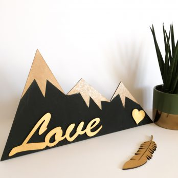 Mountain Peak Wall Decor Sign
