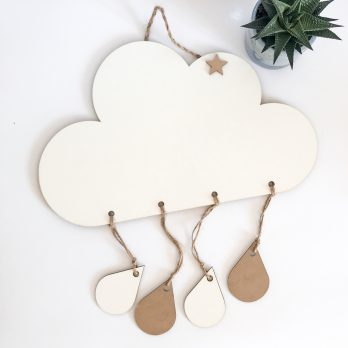 Cloud Nursery Wall Wood Sign
