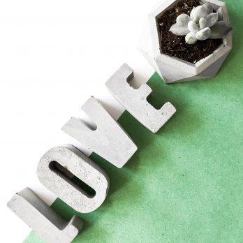 LOVE – Handmade Concrete Letters