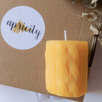 Knitting Wool – Natural Pure Beeswax Candle