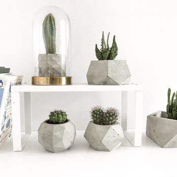 Geometric Concrete Planters Set-5